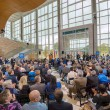 A large crowd of supporters turned out Wednesday, Oct. 15, for the grand opening ceremony for the new MTSU Science Building. (MTSU photo by J. Intintoli)