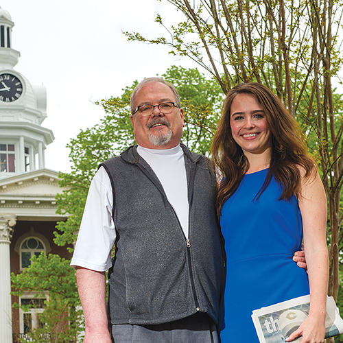 Alumni Media Family Ron Fryar, and Sara Fryar Cantrell