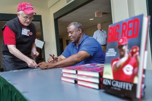 Baseball in Literature Conference speaker Ken Griffey, Sr. in the Tennessee room of JUB.