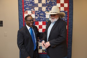 Opening of the Veterans and Military Family Center in the KUC. Sidney A. McPhee, MTSU President, and Charlie Daniels