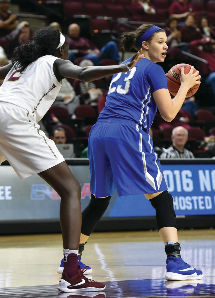 March 18, 2016: during the 1st round of the 2016 NCAA Women's Basketball Tournament between Middle Tennessee and Florida State University hosted at Texas A&M in College Station, Texas.