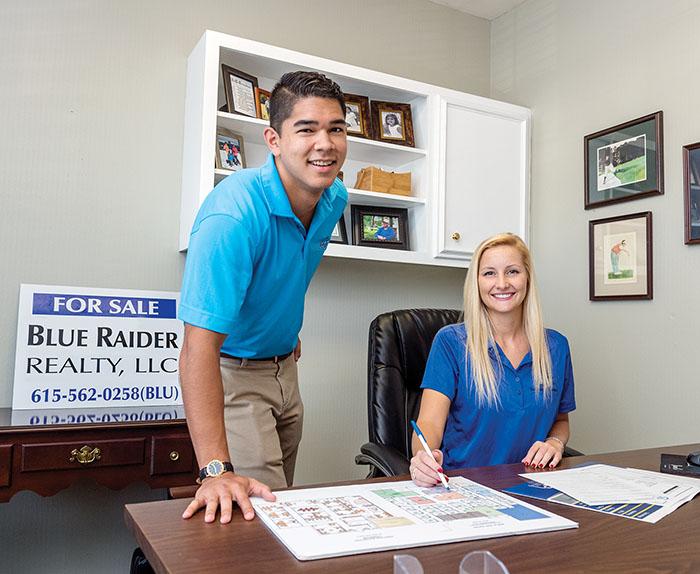 Mark Dunn and Jennifer Mayberry at the Parks Group office in Murfreesboro