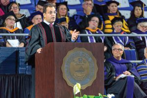 Spring 2016 Afternoon Commencement featuring speaker Kary Antholis, President, HBO Miniseries and Cinemax Programming, in Murphy Center. Kary Antholis, President, HBO Miniseries and Cinemax Programming.