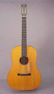 A Martin-built Ditson dreadnought from 1929. Photo from www.frets.com.