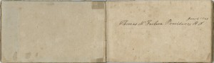 Opening pages of a binders volume belonging to Thomas McFarlane of Providence, Rhode Island, dated June 4, 1849 (Center for Popular Music Collection)
